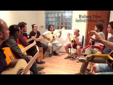 Excerpts from our rhythm workshop in Malaga/September 2017 Learn Paco de Lucia´s flamenco/Ruben Diaz