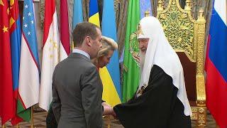Дмитрий и Светлана Медведевы поздравили патриарха Кирилла с днем рождения.