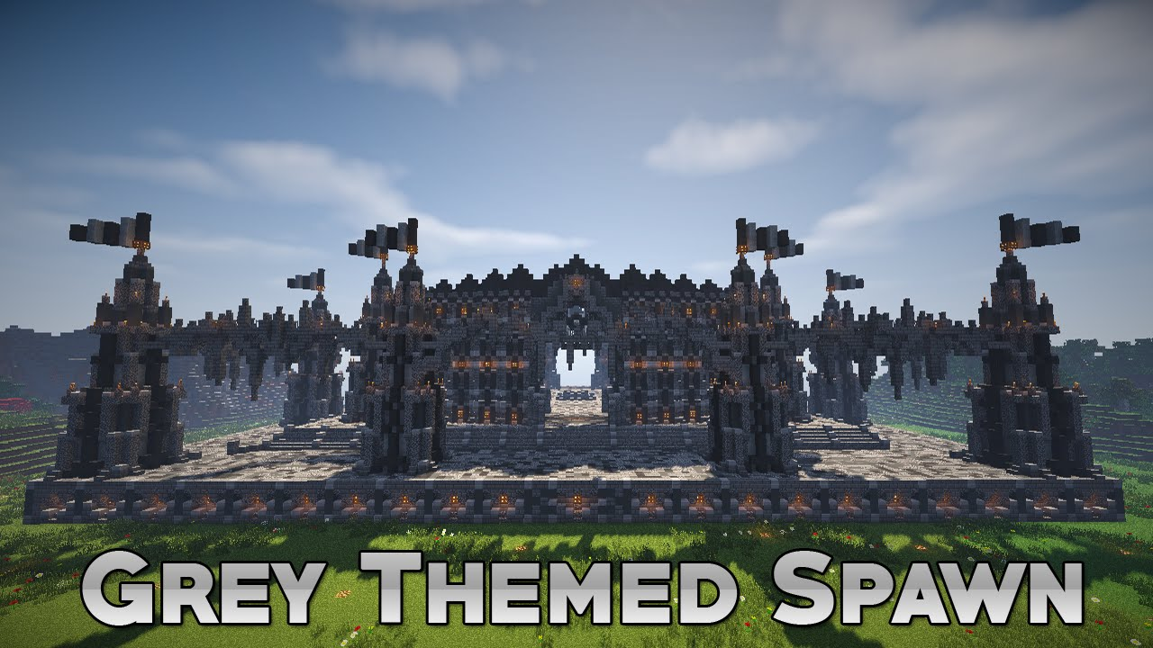 Minecraft Grey Themed Faction Spawn 17 112 Free Download YouTube