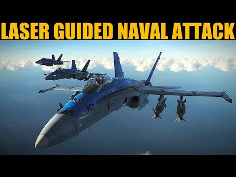 Dusk Laser Guided Naval Port Attack | DCS WORLD