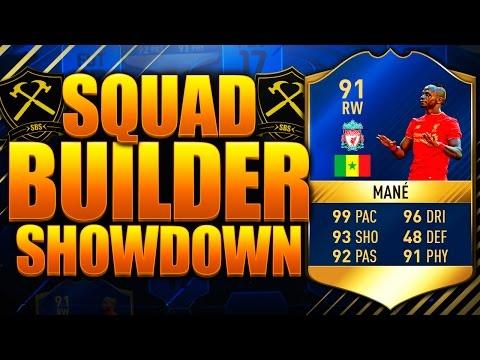 EPIC SQUAD BUILDER SHOWDOWN TOTS MANE 91!! FIFA 17 ULTIMATE TEAM