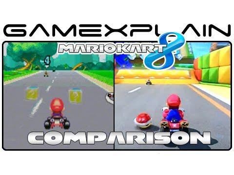 Mario Kart 8 Mario Circuit Gba Head To Head Comparison Wii U Vs