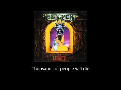 Testament - Alone In The Dark (Lyrics)