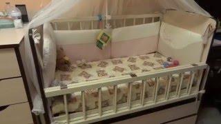 Детская кроватка-трансформер. Видео-обзор, отзыв.(При выборе кроватки для малышки мы руководствовались наибольшим удобством и функциональностью исходя..., 2016-01-15T16:45:23.000Z)