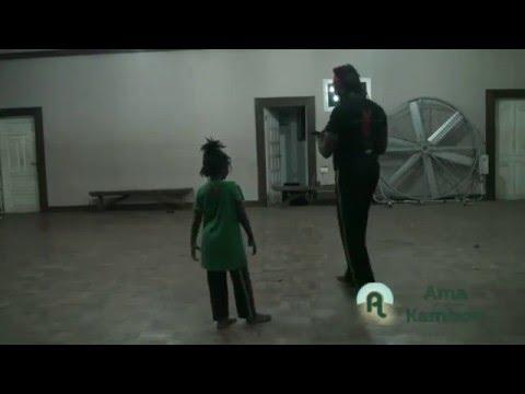 Ama Kambon and Kwaku Kambon Practicing Afrikan Combat Capoeira