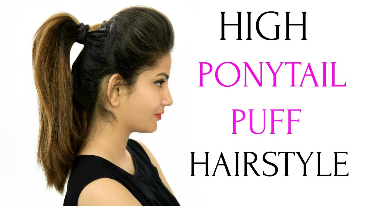 high ponytail with puff hairstyle & 5 more everyday heatless hairstyles   anaysa