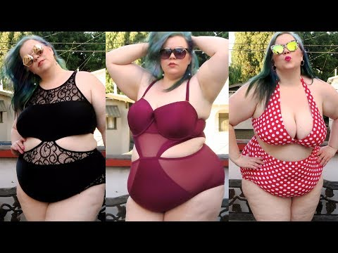 5b3c3079303 Plus Size Bikini   Swimwear Try On Haul 2017