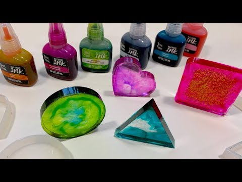 Brea Reese - How to Use Resin Molds with Alcohol Ink - Artist Marie Diemert