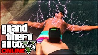 GTA 5 Online STUN GUN Gameplay! Get Yours Today! (GTA 5 Online New Weapons) [GTA 5 PS4 Gameplay]