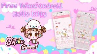 Gambar cover Free Hello kitty theme for Android   Tema gratis   Cara Pasang Tema Line launcher