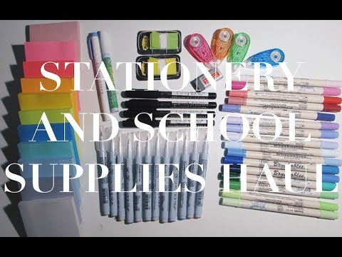 SCHOOL SUPPLIES AND STATIONERY HAUL! | studycollab