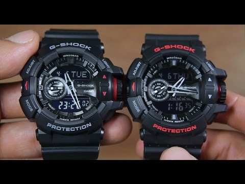 3eaba6a5c06 CASIO G-SHOCK GA-400-1B VS G-SHOCK GA-400HR-1A - YouTube