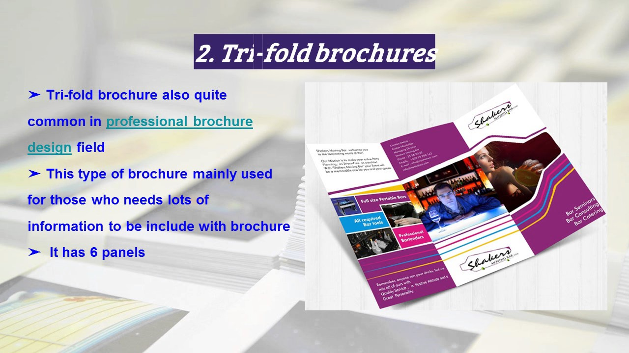 different types of brochure design youtube