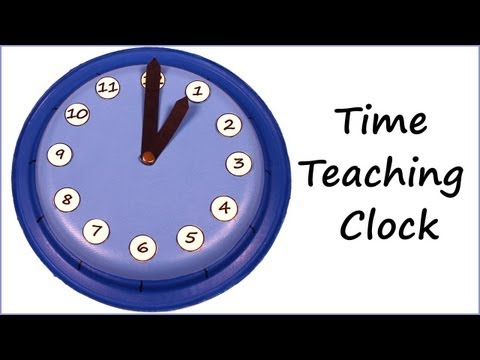 Clock for learning how to tell time