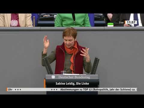 Rede von Sabine Leidig am 15. April 2021 im Deutschen Bundestag zum Thema GroKo kleckert bei der Eisenbahn, aber klotzt beim Autobahnbau