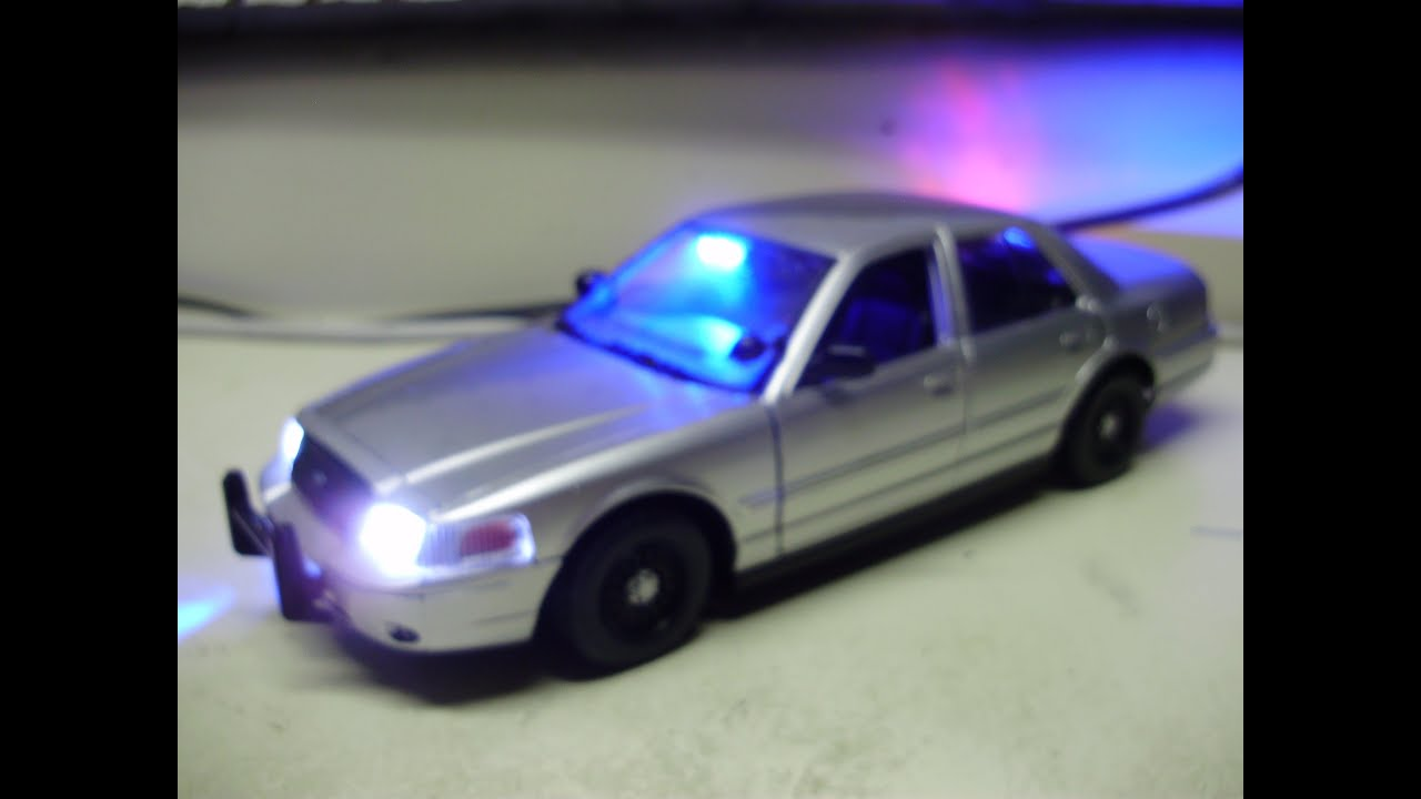 Custom 1 24 scale ford crown vic unmarked slicktop police diecast w working lights youtube