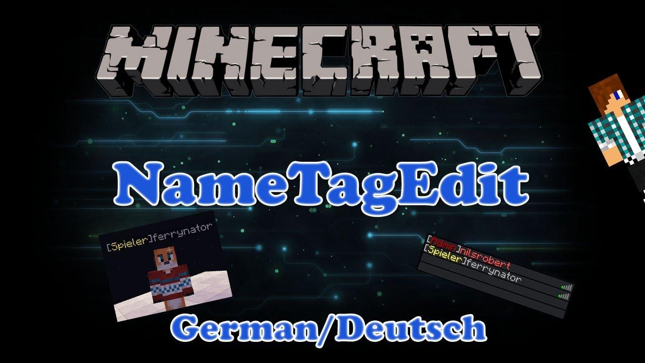 Minecraft NameTagEdit PluginVorstellung Farbige Namen German - Minecraft farbige namen andern