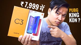 Realme C3 vs Redmi 8 Full Comparison - Best Phone Under 8000