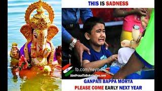 #GanpatiBappaMorya | Ganpati visarjan 2018 | whatsapp status (Miss You Bappa)