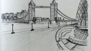 Sketch 19 - Tower Bridge, London, UK