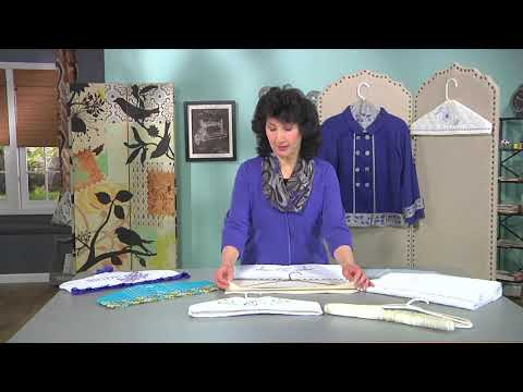 Joanne Banko Makes A Quick And Easy Padded Hanger Cover. As Seen On It's Sew Easy TV Show1403-2.