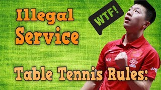 Table Tennis Rules of Illegal Service