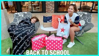 BACK TO SCHOOL CLOTHING SHOPPING / HAUL | SISTERFOREVERVLOGS #553