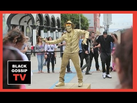 Usher is Spray Painted Gold for Undercover Dance Surprise in LA!