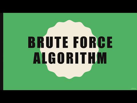 Learn Basics Of Algorithms FAST P5 Brute Force Method