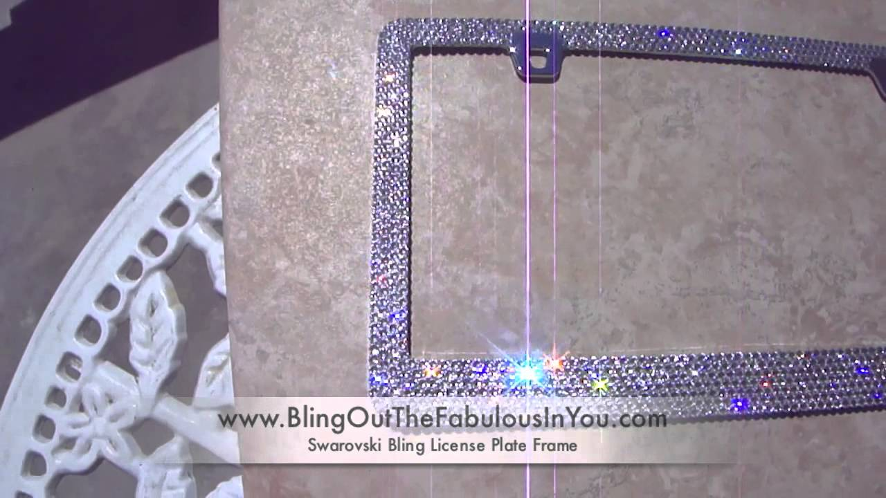 swarovski crystal license plate frame by crystal fetish