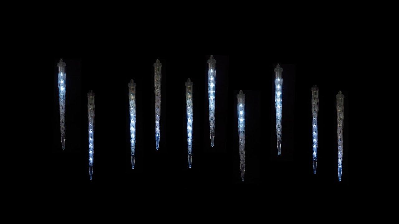 Weihnachtsbeleuchtung Eiszapfen Lauflicht.Apesa Ch Snow Motion Weihnachtslichter Fallendes Licht