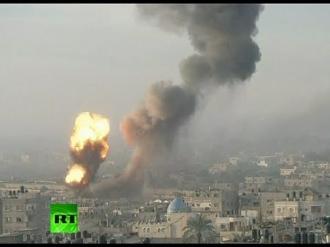 Video: String of blasts in Gaza as Israel intensifies airstrikes