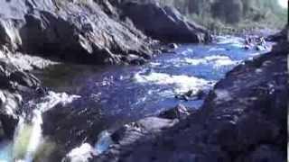 Сплав. река Титовка, порог