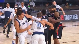 Luka Doncic Wanna Fight Marcus Morris After Hard Foul Who Then Gets Ejected! Clippers vs Mavericks
