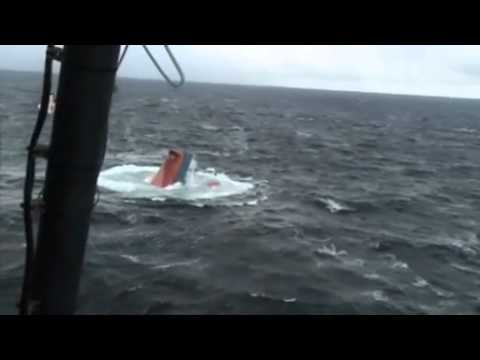 Helicopter rescue crew from vessel Bulk Star