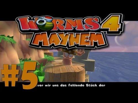 Let´s Play Worms 4 Ultimate Mayhem - #5 - Der böse Zauberer [German] [HD]