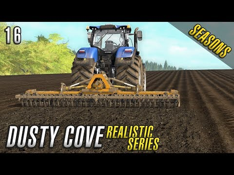 POWER HARROWING | Realistic Farming Simulator 17 | Dusty Cove | Day 16