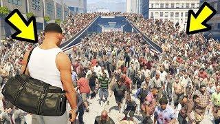 GTA 5 - SAVING Los Santos from a HUGE Zombie Hoard!!