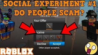 ROBLOX | ASSASSIN: SOCIAL EXPERIMENT #1 (DO PEOPLE SCAM? W/ superderper33) *DID WE CATCH A SCAMMER?*