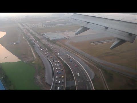 Landing at suvarnabhumi airport- Early Moening. SpiceJet SG83 Boeing 737-900er