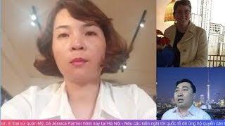 Huệ Như gặp Đại sứ quán Mỹ, bà Jessica Farmer hôm 19.6.2019 tại Hà Nội