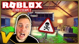 CAN YOU SWIM in ACID?! :: Flood Escape 2 Roblox Danish