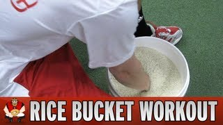 catching 101 rice bucket workout for baseball catchers
