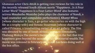 """Chris Attoh Shines for Ghana in South African Movie """"happiness…is a Four Letter Word""""1"""