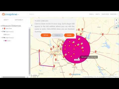Measure Distances between Locations