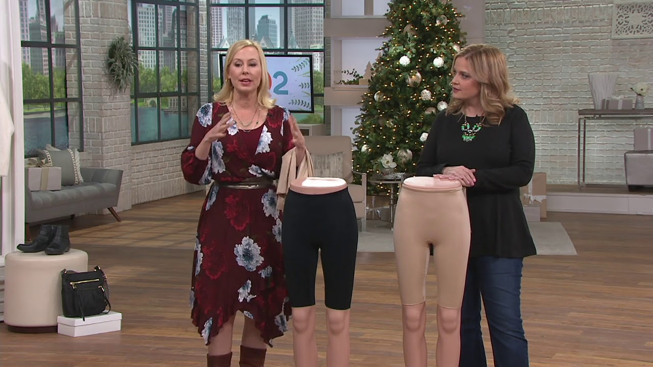 312692ea27ba5 Spanx Power Conceal-Her Extended Leg Mid-Thigh Short on QVC - YouTube