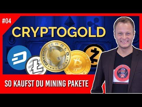 Crypto Gold - So kaufst du Mining-Packages #1 (Live Einzahlung) | CryptoGold Einstieg