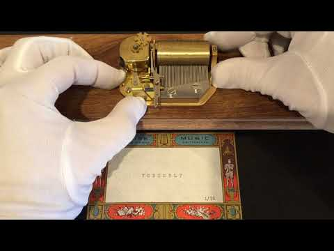 Reuge 1 song 36 note Music Box movement, plays Tenderly