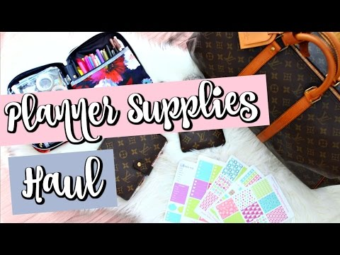 Planner Supplies Haul! Hair Update! Louis Vuitton Agenda MM, Stickers, and More! | Belinda Selene