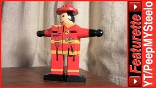 Fireman Toys w/ Firefighter Uniform Costume & Hat For Toddler Kids or Cake Topper Party Supplies